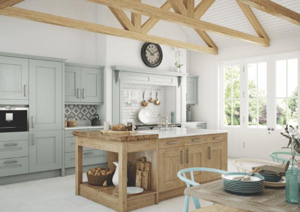 Clonmel Light Oak and Painted Kitchen