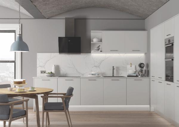 Zola Soft Matte Light Grey Kitchen